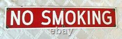 Vintage Non-fumeur Porcelaine Magasin- Garage Sign- 20- Display- Org