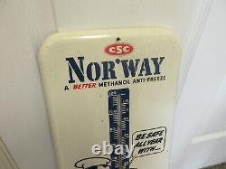 Vintage Nor'way Antifreeze Garage Shop Store Thermomètre Publicité A-245