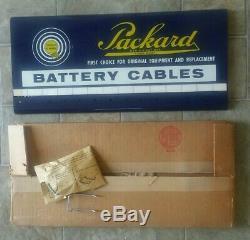 Vintage Nos Packard Automobile Câbles Batterie Mechanic Garage Magasin Afficher Sign