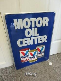 Vintage Publicité 1983 Valvoline Oil Tin Garage Vieux Magasin Afficher Signe M-686
