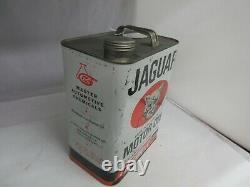 Vintage Publicité Jaguar Motor Oil 2 Gallon Can Tin Garage Store 802-q