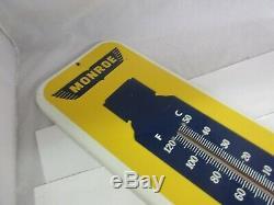 Vintage Publicité Monroe Chocs Thermomètre Garage Magasin Affichage Automatique A-58