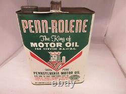Vintage Publicité Penn-rolene Motor Oil 2 Gallon Can Tin Garage Store 633-q