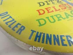 Vintage Publicité Ppg Ditzler Paint Round Thermometer Garage Store A-426