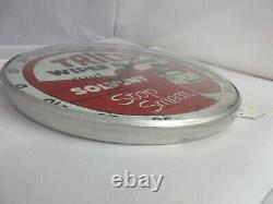 Vintage Publicité Trico Round Thermometer Glass Face Garage Store A-434