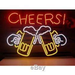 Vive Verre Néon Signe Bière Bar Magasin Garage Party Pub 17x14