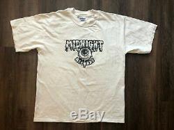 Vtg Minuit Records T-shirt 1978-1998 Nyc Disquaire Garage Punk Psychédélique