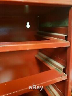 Vtg Molly Mur Ancres Magasin 4 Tiroirs En Métal Pos Cabinet, Stockage Garage Man-cave